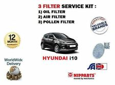 FOR HYUNDAI i10 1.0 1.2  2013--  NEW OIL AIR POLLEN FILTER SERVICE KIT