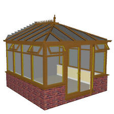DIY LIGHT OAK  EDWARDIAN CONSERVATORY  4.0m x 4.0m NEW ***ALL SIZES AVAILABLE***