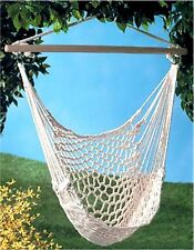 COTTON ROPE HAMMOCK CHAIR ** Recycled Cotton, Wood * Max Wt  200 lbs ** NIB