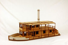 Gas Lamp Alley COLONIAL PADDLE STEAMER 28mm Laser cut MDF kit G060