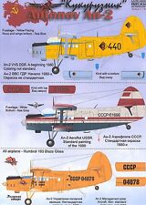 Print Scale Decals 1/144 ANTONOV An-2 COLT Russian Transport