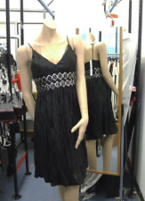 Joseph Ribkoff BNWT 10 Beautiful Black Crinkle Strappy Dress with Silver Sequin