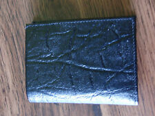 NOS Mele Bifold Wallet in Buffalo Calf Leather in Black