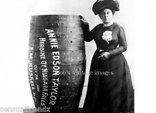 Photo First person over Niagara Falls,New York Anne Edison Taylor In a barrel