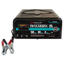 Schumacher Battery Charger, Portable, 12V, 10/2/50 Amp, Automatic SE5212A