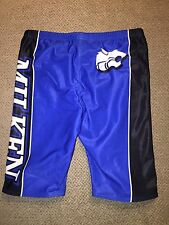 Men's Speedo Black Blue Jammer 30 Swim Suit Miliken High School Wildcats Finis