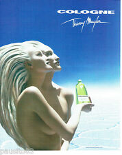PUBLICITE ADVERTISING 056  2003  Thierry Mugler   Cologne seins nus