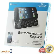 Naztech Ultra-thin Bluetooth 3.0 Slideout QWERTY Keyboard, iPhone 5 5s, Black