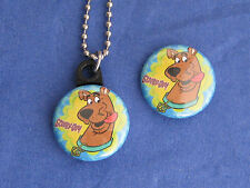 Scooby Doo #1 Dog  Logo Button Charm with Ball  Chain Necklace New