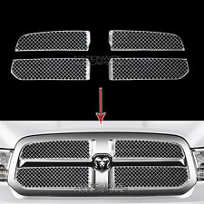 2013-2017 Dodge RAM 1500 CHROME Snap On Grille Overlay Grill Covers Trim Inserts