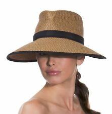 Eric Javits Women's Headwear Suncrest Hat (Natural Black) NEW $225.00 FREE SHIP
