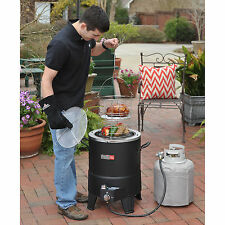 Outdoor Propane Turkey Fryer Gas Grill Backyard Patio Cooking Frying Pot No Oil