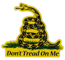 Magnetic Bumper Sticker - Don't Tread On Me - Gadsden Flag, Coiled Snake