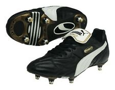 PUMA King Pro SG Classic Black White Gold Leather Soccer Cleats Mens 8