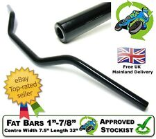 "NEW FAT BARS HANDLEBARS 1"" TO 7/8"" 3.5"" RISE TAPERED BLACK STREETFIGHTER PROJECT"