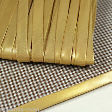 "5yards Metallic Glitter Gold Bias Binding Trim 3/8"" Folded Polyester Tape bi-007"