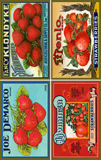 Olde American Antiques Quilt Block Strawberries Can label set 1 FREE US SHIPPING