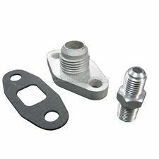 Oil Line Fitting Kit Single Turbo For 86-92 Toyota Supra 7MGTE AN10 AN4