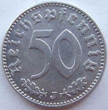 TOP! 50 REICHSPFENNIG 1943 J in fast VORZÜGLICH SELTEN !!!