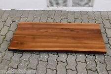 Waschtisch Tischplatte Platte Nussbaum Massiv Holz mit Baumkante NEU Leimholz
