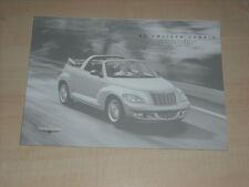 65467) Chrysler PT Cruiser Cabrio Preise & Extras Farben Polster Prospekt 03/200
