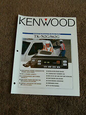 Kenwood TK-762G TK-862G Dealer Sales Brochure FM Mobile Radio