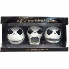 NECA Nightmare Before Christmas *JACK HANGING HEAD* ORNAMENTS Set NBX Tim Burton