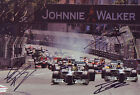 4 F1 2013 Drivers Hand Signed 8X12 Inches Monaco Photo Autographed Jules Bianchi