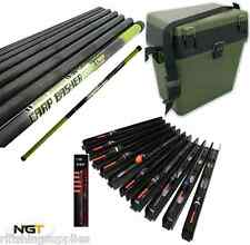 Carp Basher - 11m Full Carbon Carp Fishing Pole +10 Float Pole Rigs + Seat Box