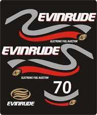 Adesivi motore marino fuoribordo Evinrude 70 hp four stroke 4 tempi chiaro o scu