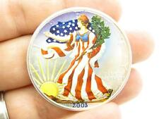 2003 American Eagle Walking Liberty 1 Oz. Fine Silver .999 Dollar Colorized Coin