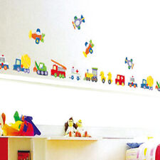 Duck Car Train Airplane Removable Wall Sticker Home Art Decals Boy Kids Nursery