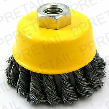 WIRE TWISTED KNOT CUP BRUSH WHEEL Angle Grinder Rust Cleaner Paint Remover Tool