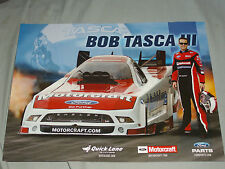 2013 BOB TASCA III MOTORCRAFT / QUICK LANE FORD SHELBY FUNNY CAR NHRA POSTCARD