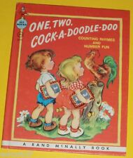 One Two Cock-A-Doodle-Doo - Early 1950 Elf Book 1970s Reprint Nice Pics! SEE!