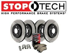 Audi A4 Quattro 05-09 Stoptech Street Slotted Front Rear Brake Rotors Pads Kit