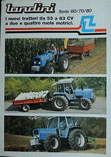 """PUBBLICITA' """" LANDINI Serie 60/70/80- I NUOVI TRATTORI da 53 a 83 CV a due e 4RM"""