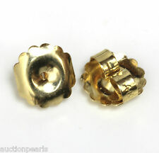 14KT yellow Gold Push On Earrings Replacement Butterfly Backs Backings 10 mm