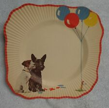 Scotty Scottie Dog And Terrier  Watch Balloons Vintage   Paper Plate