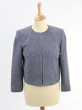 French Connection Navy Patterned Jacket Size 12