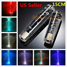 Universal 15CM 5.9 Inch Crystal Bubble LED LIGHT Shift knob shifter gear Lever