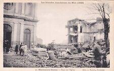 MONTAUBAN 11 grandes inondations du midi de 1930 place de l'église éd bouzin