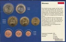 monaco 2002 Kurzsatz: 10 cent jusqu'à ce que 2 euro fleur de coin 2002 euro-set