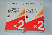4 x  Sony L-750  Betamax blank video tapes cassettes - brand new and sealed