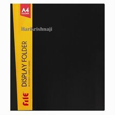 Premium A4 Colour Display Book Presentation Folder Portfolios 40 Pages - Black