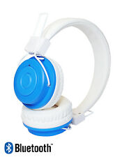 Kids Childrens Wireless Bluetooth Headphones for iPad iPhone Android iOS - Blue