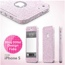 iPhone SE 5 5S Skins Glitzerfolie Strass Bling Aufkleber Sticker Glitter Folie