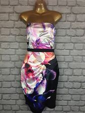BNWT LIPSY UK 10 FLOWER PRINT BANDEAU DRESS RRP £60.00