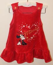 Disney Minnie Mouse Girl's Dress: 6 - 9 Months: Red Velour (George Asda)