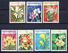 Flore - Fleurs Kampuchéa (63) série complète de 7 timbres oblitérés